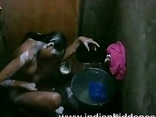 Bangladeshi Indian Young Girl Taking Shower - 2..