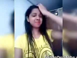 Desi Indian Cute Girl Undressing Fingering Pussy..