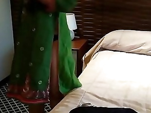 Hot Selina Begum Exposing Her Ass in Green..
