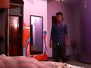 sleeping Indian sister fuck by brother open door..