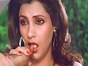 Sexy Indian Actress Dimple Kapadia Sucking Thumb..
