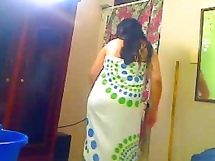 Indian Wife Shower For Her Hubby On A WebCam -..