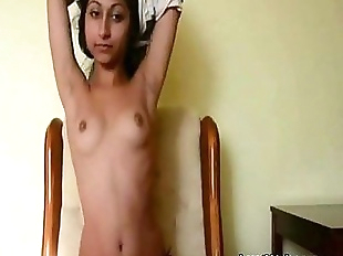 Petite Indian babe teasing on cam - 4 min