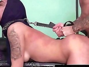 Hard doggy & water torture for Arab cunt 6 min..
