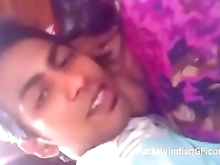 indian desi sexy young girl at home alone with..